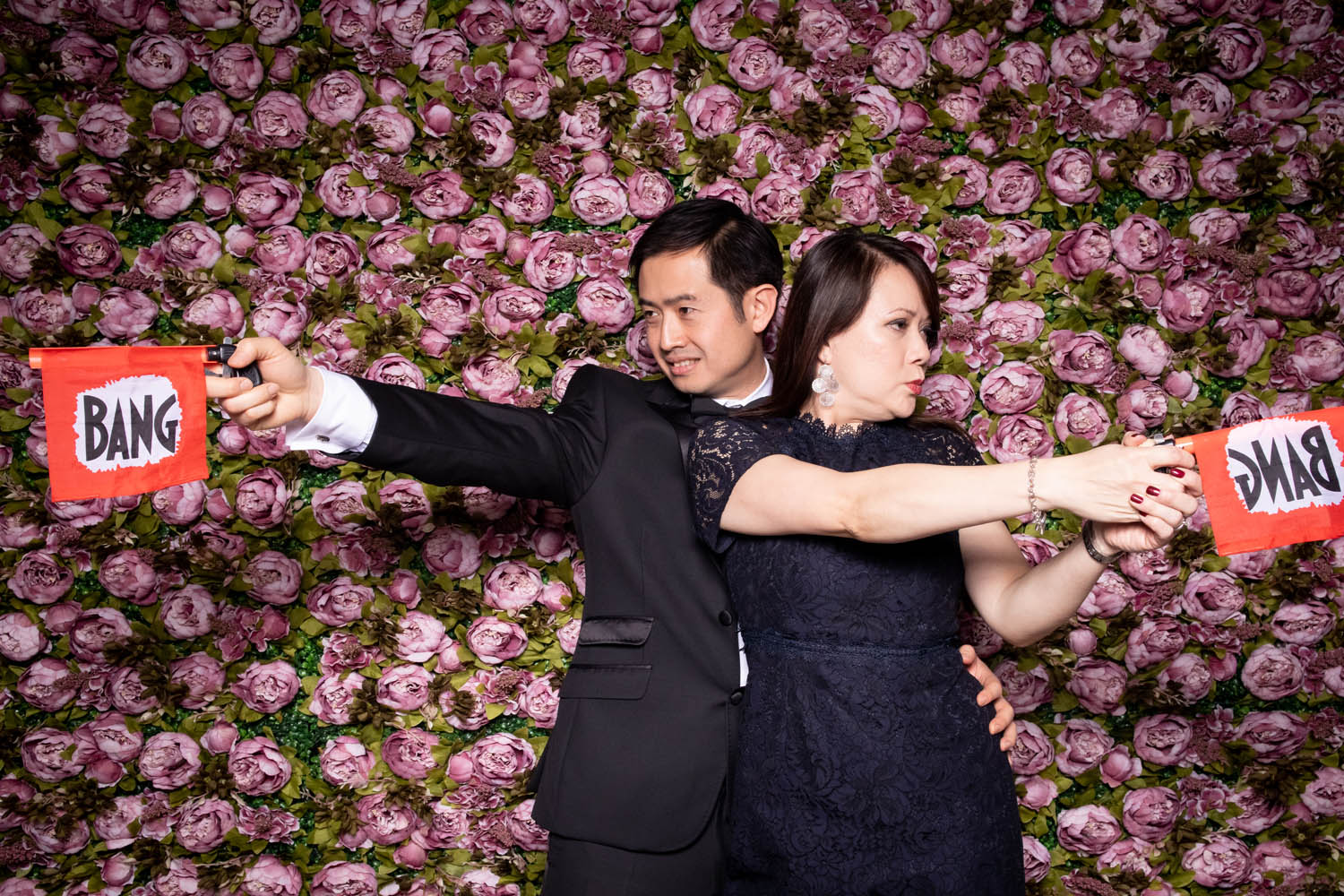 Rose Flower Wall Photo Booth