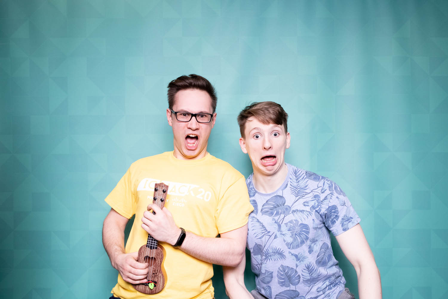 Teal photo booth backdrop