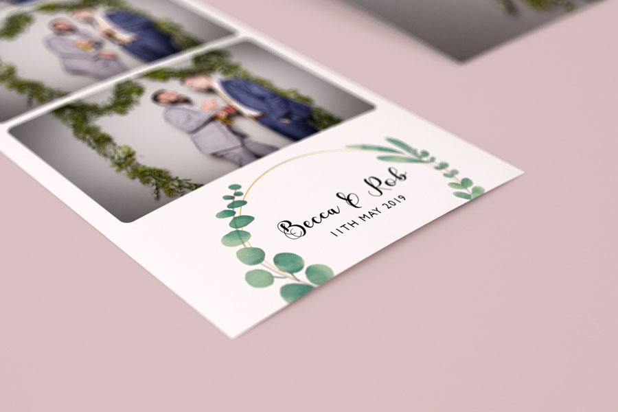 Photo booth print design leaves